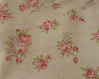 Yuwa Rose on Cream 826075A Cotton Fabric