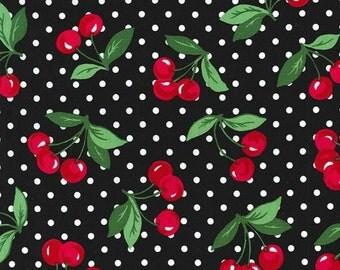 Michael Miller - Cherry Dot in Black