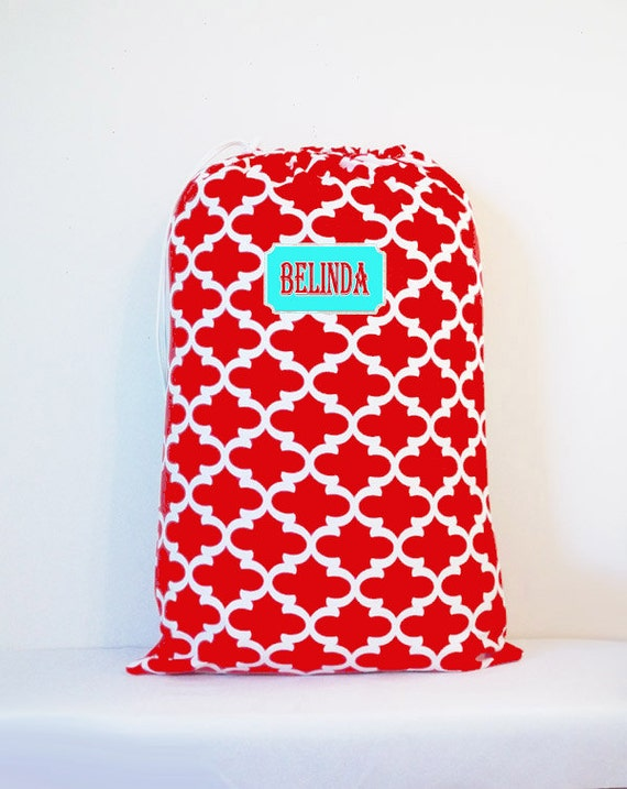 Large College Laundry Bag, Monogrammed laundry tote bag, drawstring bag, travel laundry bag, summer camp bag, backpack style laundry bag