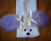 New for 2015 Purple eared Dog Puppy Sock Puppet from Puppets by Margie