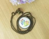 Vegan Necklace Pendant, I am Vegan, Vegan Jewelry, Animal Protection Awarness, Veganism Necklace, Hebrew Text Letters