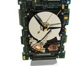 FREE SHIPPING! Laptop Hard Drive Clock on a Circuit Board. Got Geek Gift?