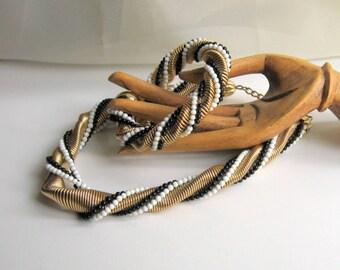 Monet Set Necklace Bracelet Vintage 80s Costume Jewelry
