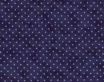 Liberty Blue  ... MODA Essential Dots 8654 39  ... You choose 1/2 yard or full 1 yard cut