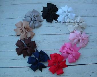 Set of 10 3 Inch Pinwheel Hair Bows