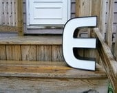 Vintage Metal Wall Letter - E - Industrial Salvage Channel Letter
