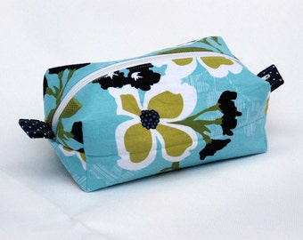 SALE - Floral with Polka Dots Makeup, Cosmetic, feminine items Pouch
