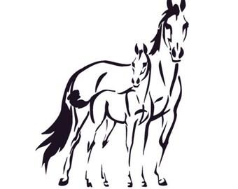 Horse Decal Pony Wall Sticker Teen Girls Bedroom Decor Western Nursery Wall Decal Dorm Gift Vinyl Wall Horse Decal Child Boy 22 X 28 inches