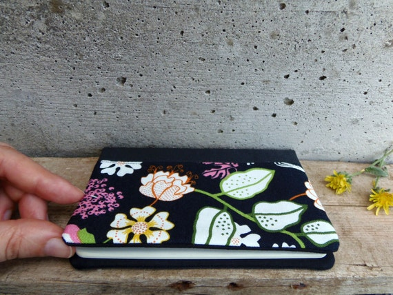 Moleskine cover with flowers
