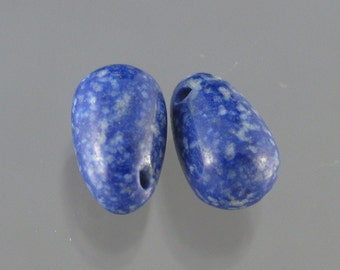 Lapis Lazuli Designer Smooth Drop Pair 25% OFF SALE
