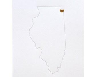 City Love Art Print: Chicago