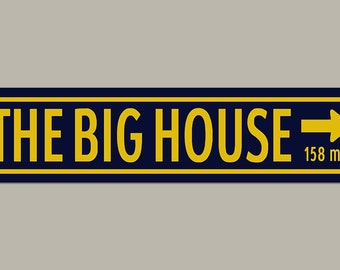 The Big House University of Michigan Colors Football Road Sign