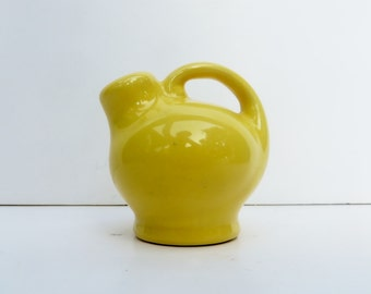Shipping Included Small Yellow Jug Shaker Miniature Vintage Pottery