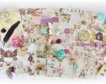 Prima Butterfly Embellishment Kit/File Folder Mini Album, *110 Items* Scrapbooking, Premade, Kits,LittleScrapShop
