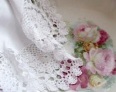 Doily, Handmade, Crochet, Shabby Cottage, Shabby Chic, Romantic Home, by mailordervintage on etsy