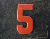 NUMBER 5 Vintage Metal Numbers 2-3-5-7-8-0 CENT Marquee Signage  -3-