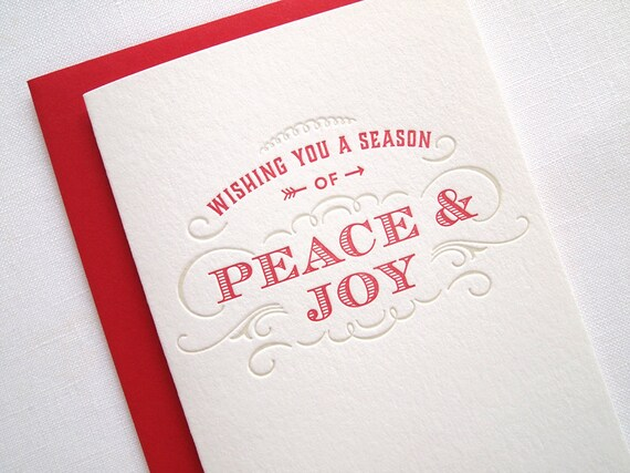 Peace & Joy Letterpress Holiday Card