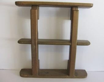 Vintage Shelf - Handmade Wooden shelf - Brown wood shelf - Primitive rustic wall shelf - Solid Wooden Shelf