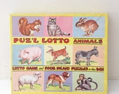 4 vintage animal puzzles platt and munk
