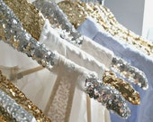 THE ORIGINAL sequin hanger. Choose Gold or Silver sequins, Adult or Child sized.