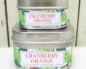 Cranberry Orange Soy Candle 4 oz. - Green Daffodil Soy Candleworks - Anne and Siouxsan -C4 - Christmas