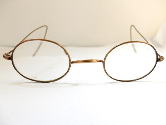 Eyeglass Frame Markings : Antique Optical early 1900s Eyeglasses Frames