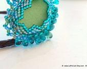 RESERVED: Mermaid Tears -  Organic Genuine Amalfi clear  Sea Glass - capri blue