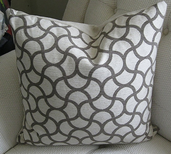 Items similar to Charcoal Gray Pillow - Charcoal Grey Designer Pillow - Charcoal Ivory - Throw ...