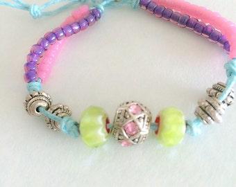 Bohemian inspired  friendship bracelet.