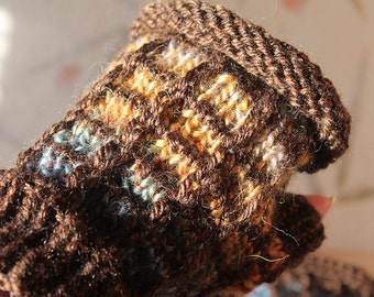 Stained Glass Fingerless Mittens/Wrist Warmers