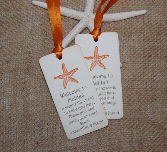 Destination Wedding Gift Tags : ... Wedding Welcome Gift Tags, Beach Wedding Tags, Destination Wedding