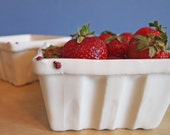 quart berry basket with ladybugs