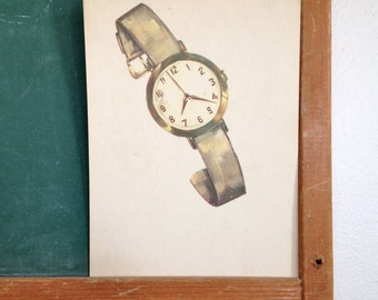 Vintage School Flashcard- Watch