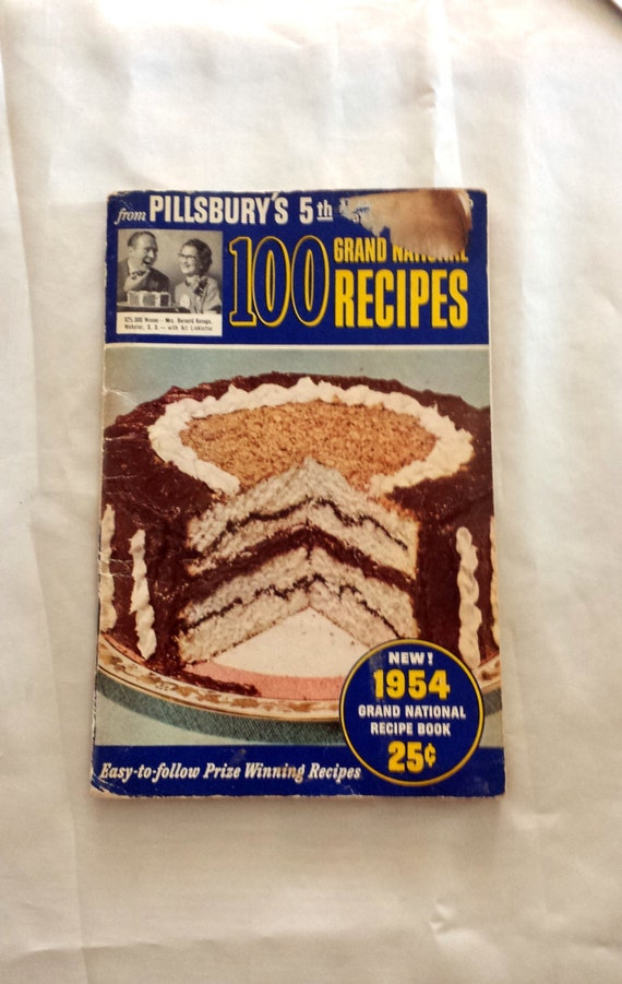 Vintage Pillsbury Cookbook. 5th Grand National by LoveDoveTrading