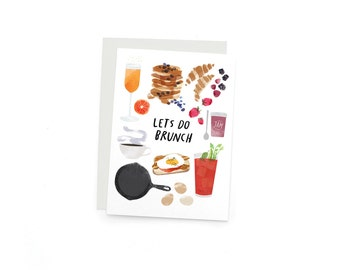 Let's Do Brunch A6 Single Greeting Cards