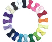 "Mini Bow Tie, Hair Bow Clip, 1.25"" Hair Bow, 30mm Snap Hair Clips - Baby Hair Clips - Mini Snap Clips, Mini Hair Bow Clips, Made To Order"