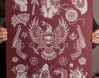 American Traditions Flash- Silk Screen - Limited Red