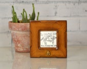 3x3 inch Square Photo Picture Frame in Wide Bones Style with Beehive Embellishment and in Finish COLORS of YOUR CHOICE
