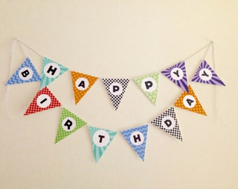 Happy Birthday Banner Decoration Printable DIY