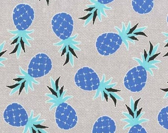 Pineapple Fabric Migration Michael Miller Blue