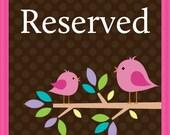 Reserved for Miranda Ferguson