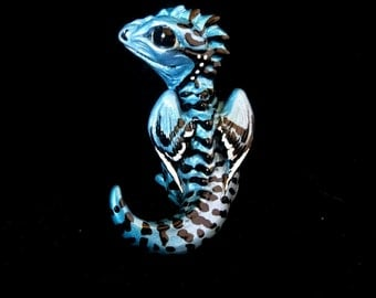 Hatchling Dragon - icy spotstripes