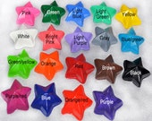 Star Shaped Recycled Crayons, Total of 19.  Boy or Girl Kids Unique Party Favors, Crayons.