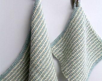 KNITTING PATTERN-Simple Stripes Kitchen Set, Dishcloth Pattern