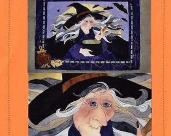 Witch's Brew #2772 Halloween Seams Like Home Quilt Pattern Fusible Applique