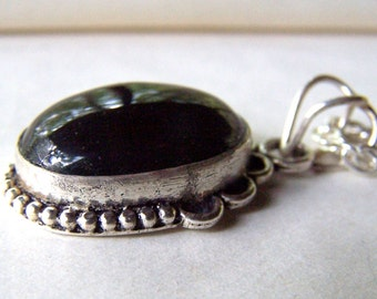 Black Onyx Necklace Silver Black Onyx Jewelry Southwest Southwestern Jewelry