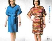 Kwik Sew 3956 Slouchy Boho Top pullover Loose Dress Women Pattern