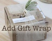 Seasonal natural gift wrap, Premium gift wrapping service to add on to your order
