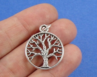 Tree of Life Charm - Silver Tree of Life Charm for Necklace or Bracelet