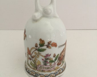 """Vintage Porcelain Hutschenreuther, Germany """"November"""" Dinner Bell"""